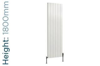 Reina Casina Aluminium Designer White Single Vertical Radiator H1800mm X W280mm