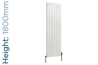 Reina Casina Aluminium Designer White Double Vertical Radiator H1800mm X W280mm