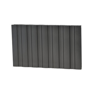MAA-DW-600-A-Z - Maple Wave Aluminium Designer Anthracite Horizontal Radiator H600mm X W1368mm