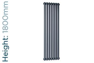 DQ-CASSIUS-180-A-TH - DQ Cassius Column Vertical Radiator H1800mm x W230mm Anthracite