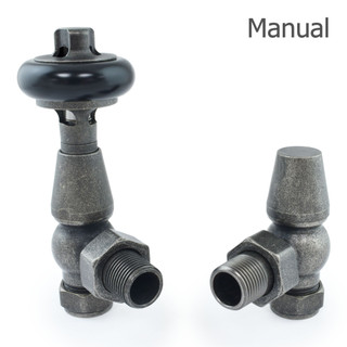 T-MAN-021-AG-PEW-THUMB - 021 Traditional Manual Angled Pewter Radiator Valves