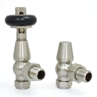 T-MAN-021-AG-SN-THUMB - 021 Traditional Manual Angled Satin (Brushed) Nickel Radiator Valves