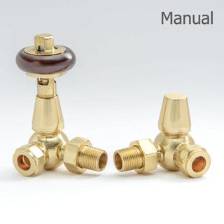 T-MAN-022-CR-B - 022 Traditional Manual Corner Brass Radiator Valves
