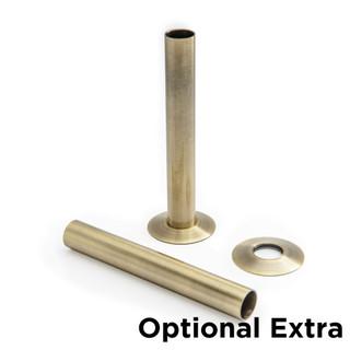 T-MAN-046-ST-AB - 046 Traditional Manual Straight Antique Brass Radiator Valves