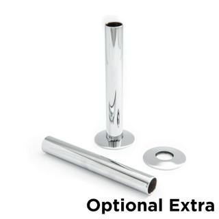 T-MAN-046-ST-C - 046 Traditional Manual Straight Chrome Radiator Valves