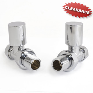 M-MAN-010E-ST-C - 010E Modern Manual Straight Chrome Radiator Valves