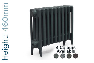 CA-CLR-V4-460-10-TH - Victorian Clearance 4 Column 10 Section Cast Iron Radiator H460mm x W644mm