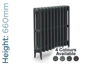 CA-CLR-V4-660-10-TH - Victorian Clearance 4 Column 10 Section Cast Iron Radiator H660mm x W644mm