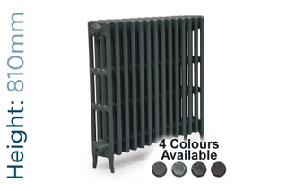 CA-CLR-V4-810-14-TH - Victorian Clearance 4 Column 14 Section Cast Iron Radiator H810mm x W888mm