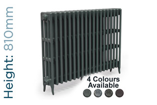 CA-CLR-V4-810-19-TH - Victorian Clearance 4 Column 19 Section Cast Iron Radiator H810mm x W1193mm