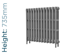 CA-CLR-V3-735-12-TH - Victorian Clearance 3 Column 12 Section Cast Iron Radiator H735mm x W766mm