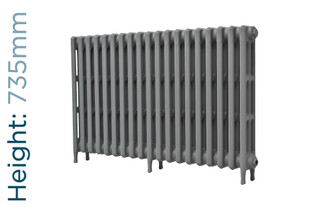 CA-CLR-V3-735-19-TH - Victorian Clearance 3 Column 19 Section Cast Iron Radiator H735mm x W1193mm