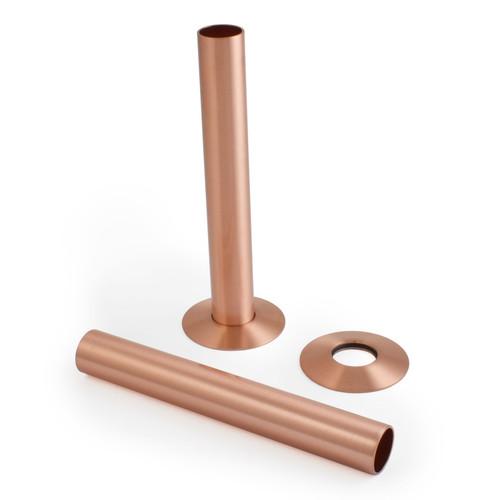500 Radiator Pipe Shroud 130mm long - Brushed Copper