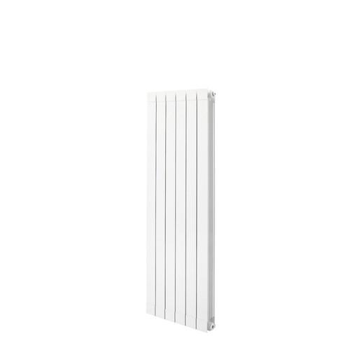 Trade Essentials Aluminium Designer White Vertical Radiator H1446mm X W340mm