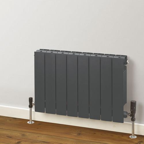Trade Essentials Aluminium Double Panel Volcanic Radiator H407mm X W420mm