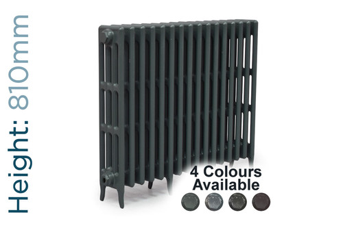CA-CLR-V4-810-16-TH - Victorian Clearance 4 Column 16 Section Cast Iron Radiator H810mm x W1010mm