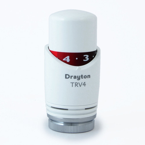 SC-0707007 - Drayton Replacement Head For TRV4 Thermostatic Radiator Valves - White