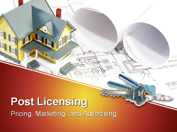 Post License 4 hour module. This scenario based course is intended to help new licensees understand the various requirements related to the pricing, marketing, and advertising of real property.