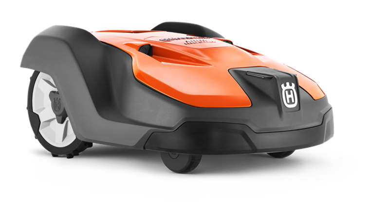 Robotic mower designed for professional fleet use. Offering remote control including theft tracking through Husqvarna Fleet Services via PC/tablet, as well as full mower control and configuration via smartphone. GPS assisted navigation and weather timer ensures uniform coverage of complex lawns, while automatically adapting mowing frequency to lawn growth. Handles all types of lawns and manages steep slopes up to 45% (24°) with perfect cutting results – even in rainy conditions. Remote Object Detection enables higher mowing speed and area capacity. Robust thorough construction provides durability and reliability.