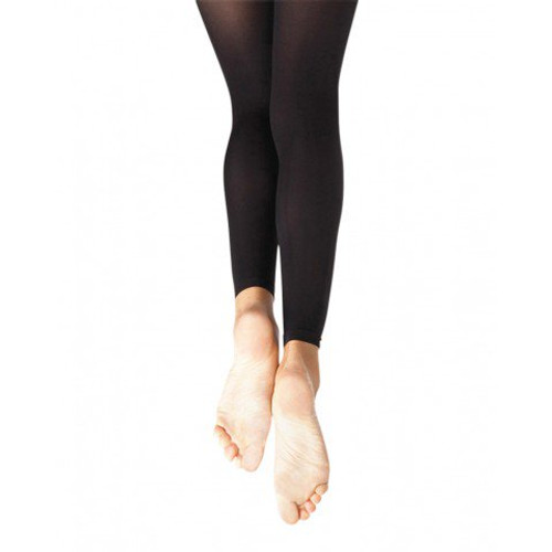 Capezio Footless Tight with Self Knit Waist Band | Girls