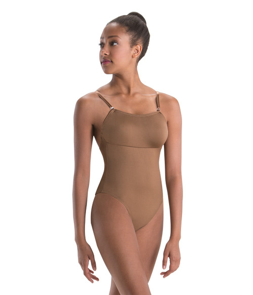 Motionwear Convertible Strap Leotard with Removable Cups