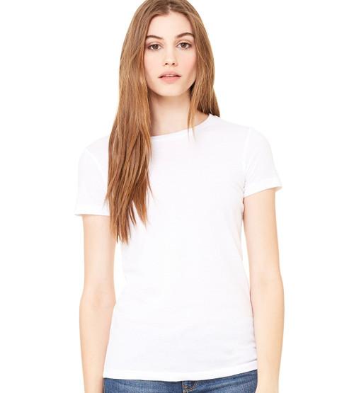 Ladies Round Neck 50/50 T-Shirt