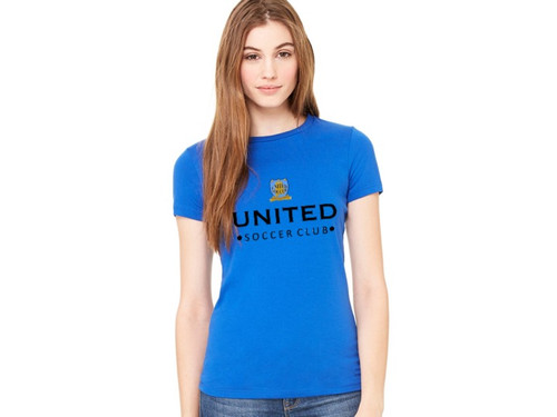 Ladies Round Neck 50/50 T-Shirt