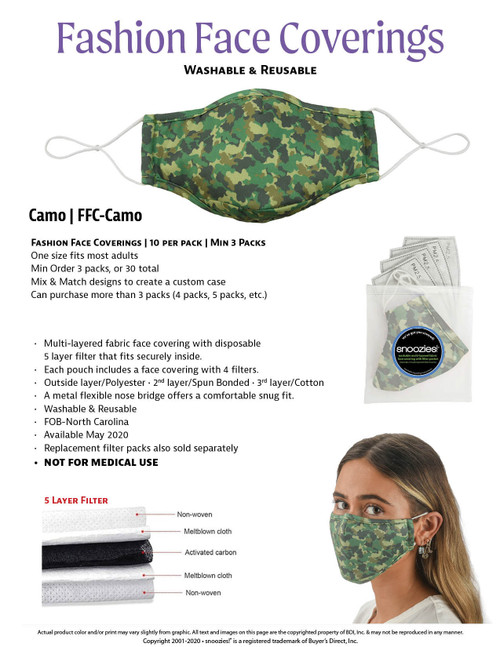 Camo Mask with 4 filters