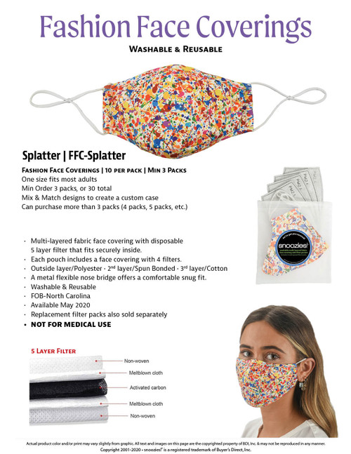 Paint Splatter Mask with 4 filters