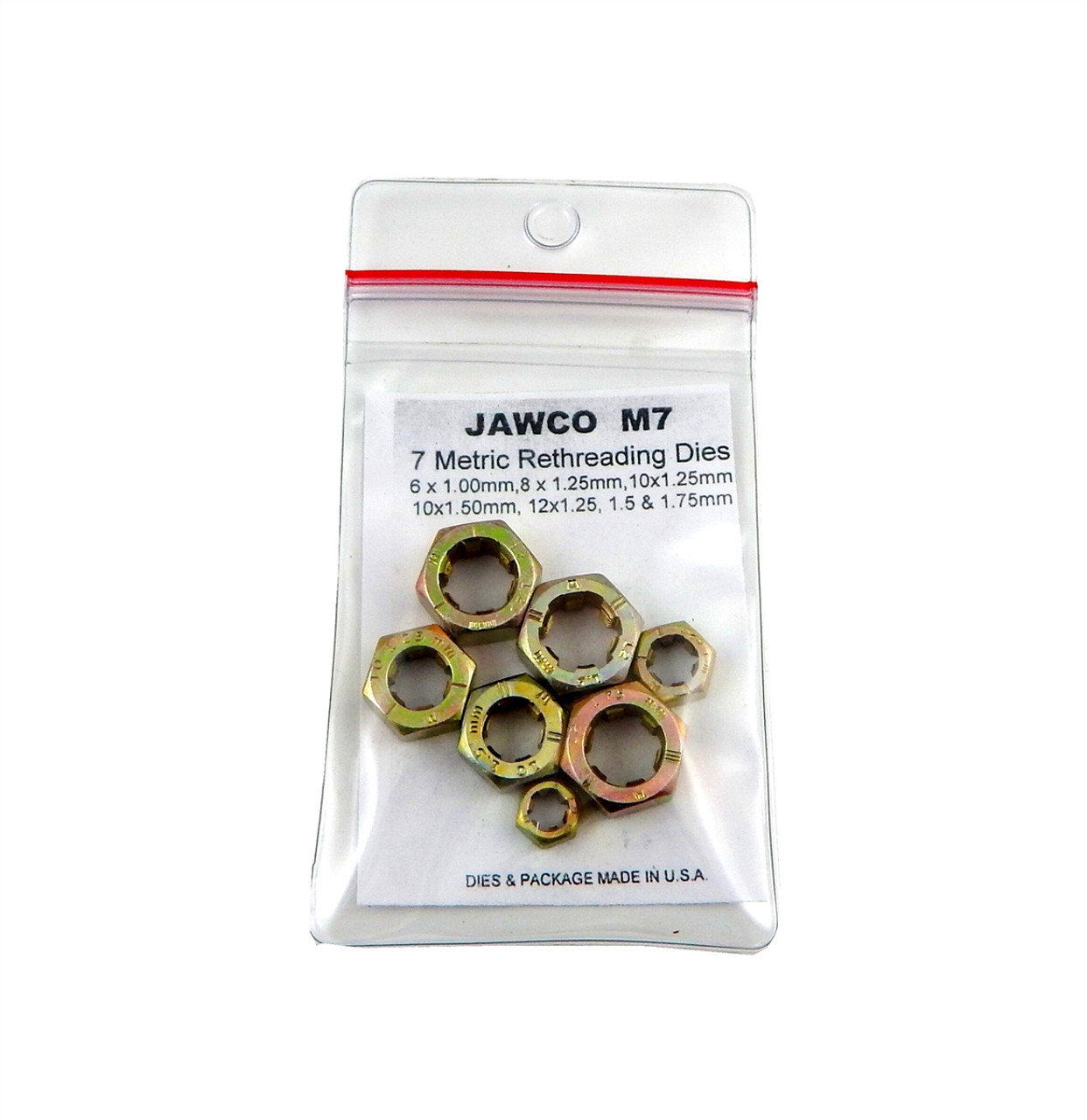 Jawco 8pc C8 NC-USS Coarse SAE Rethreading Die Set Thread Restore 1//4-3//4 USA