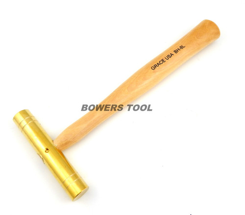 Grace USA 8oz Long Brass Hammer BH-8L Gunsmith Gun Care Machinist MADE IN USA