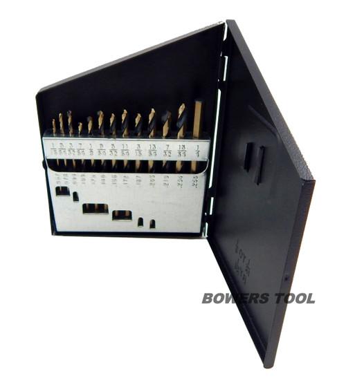 Norseman 13 pc HI-Molybdenum M7 Drill Bit Set Index 1/16-1/4 MADE IN USA SPM-13