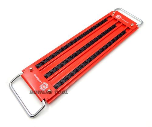 """Mechanics Time Saver 3 Row 51 Post 1/4"""" Drive Lock-A-Socket Tray LASTRAY25"""