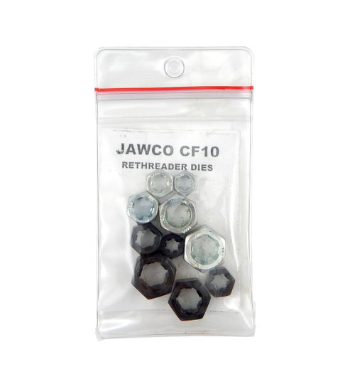 Jawco 10pc CF10 Rethreading Die Set NF-SAE & NC-USS 1/4-1/2in Thread Restore USA