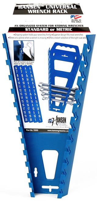 Hansen Universal Metric & Standard Wrench Tray Rack Holder USA