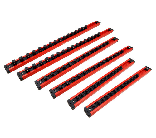 Mechanics Time Saver 1/4 3/8 1/2 Drive Lock A Socket Magnetic Rail Rack Set MTS 1