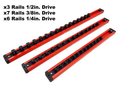 Mechanics Time Saver Magnetic Socket Rails for 227, 300, 309,  311 334pc Tool Sets USA