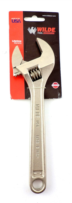 """Wilde Tool 8"""" Adjustable Wrench AWC8 Made in USA Alloy Steel"""
