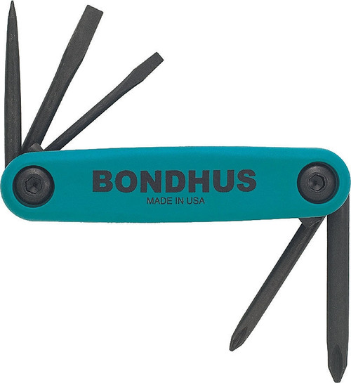 Bondhus Gorilla Grip Utility Fold Up Driver Set Awl Slot Flat Phillips USA 12545