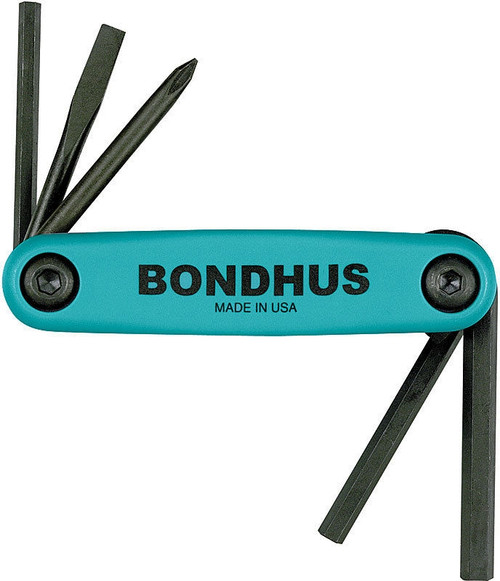 Bondhus Gorilla Grip Utility Fold Up Driver Set Hex Slot Flat Phillips USA 12540
