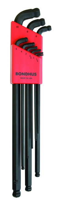 Bondhus 9pc Stubby Dual Double Ball End Hex L Wrench Set Metric USA MADE 67099