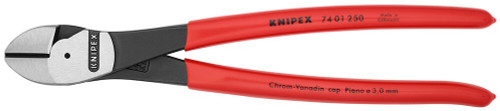 "Knipex 10"" Diagonal Cutters High Leverage Cutting Pliers 7401250"