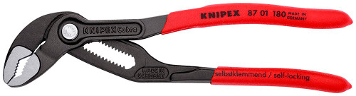 "Knipex Cobra 7"" Pliers Adjustable Water Pump Plier 8701180 1-1/2 Jaw Capacity"