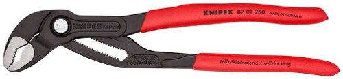 "Knipex Cobra 10"" Pliers Adjustable Water Pump Plier 8701250 2"" Jaw Capacity"