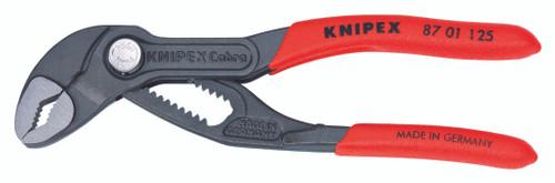 """Knipex Mini 5"""" Cobra Water Pump Pliers 7/32"""" Thin Jaw Width 1"""" Capacity 8701125"""