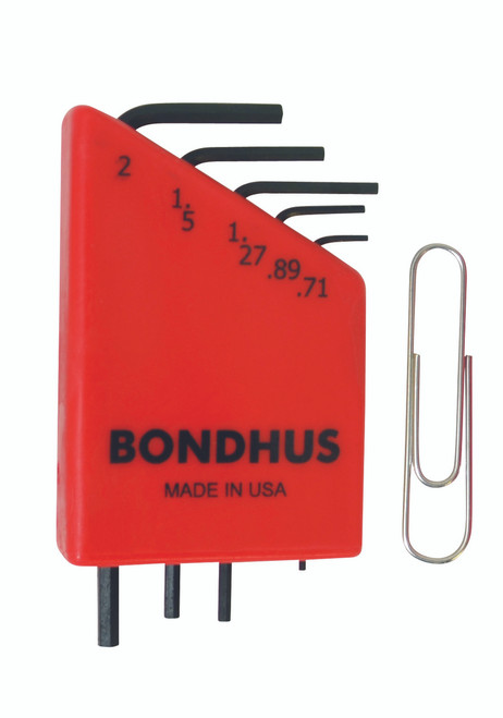 Bondhus 5pc Micro Mini Hex L Wrench Set Metric 2mm to .71mm Made in USA 35392