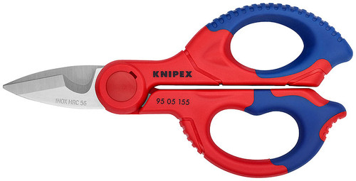 Knipex Electrician Shears 9505155 with Cable Cutter and Belt Clip