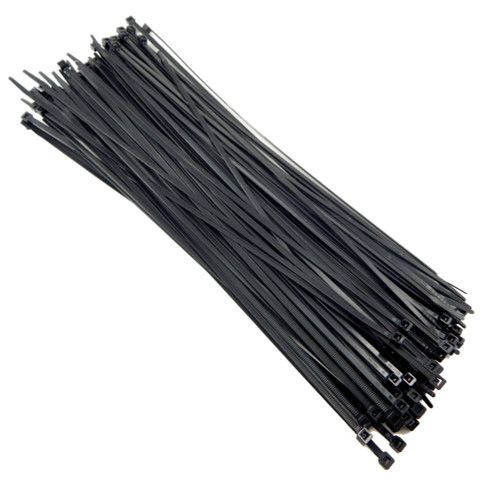 "Zip Cable Ties 14"" 50lbs 100pc UV Black Made in USA Nylon Wire Tie Wraps"