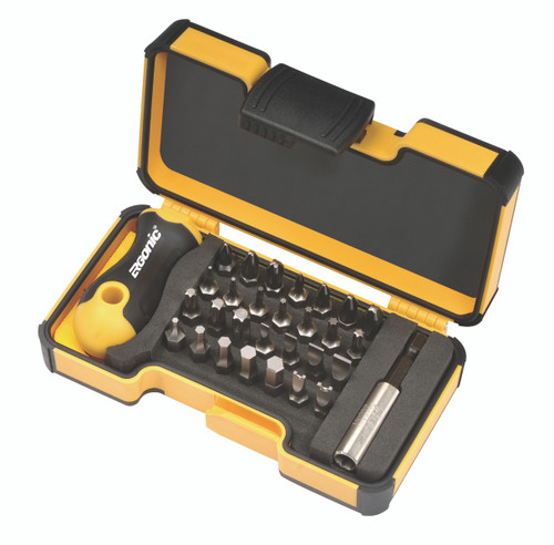 """Felo 30pc 1/4"""" Hex Stubby Screwdriver and Bit Set with Extension Germany"""