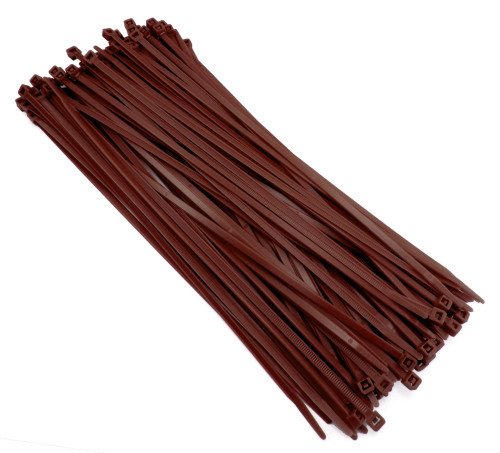 "Zip Cable Ties 11"" 50lbs 100pc BROWN Made in USA Nylon Wire Tie Wraps"